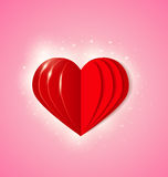 Background with  red paper heart Royalty Free Stock Photo