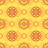 Background, red pattern on yellow Royalty Free Stock Photography