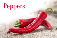 Background with red peppers and empty space Royalty Free Stock Photo