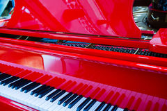 Background of red piano Stock Image