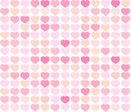 Background red and pink hearts Stock Images