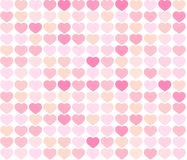 Background red and pink hearts. Simple seamless pattern with heart, vector illustration background. Pink and red backgrounds. Pattern for card Stock Image