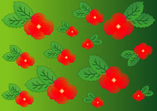 A background of red poppies on green Stock Photos