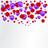Background with red and purple petals Royalty Free Stock Image