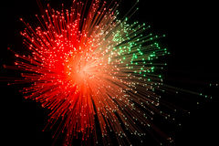 Background with red ray burst. Type fireworks created from glass fiber Stock Image