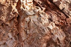 Background red rodeno limestone rock texture Stock Images