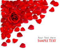 Background of red rose petals. Vector Stock Photos