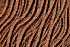 Background of red sand. With sanset shadows Stock Images