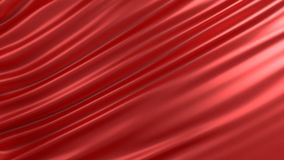 Background with red silk. Graphic illustration. 3D rendering. Graphic illustration with red fabric Royalty Free Stock Photo