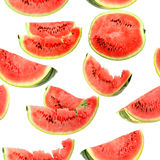 Background with red slices of watermelon Stock Image