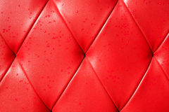 Background red sofa with waterdrop Stock Image