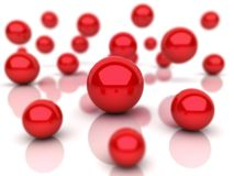 Background with red spheres Royalty Free Stock Image