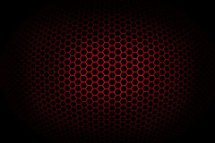 Background with red spherical octagonal grid Stock Image