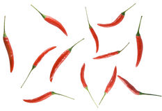 Background from red spices. Located seldom among themselves Royalty Free Stock Images