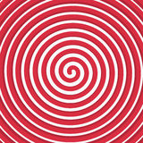 Background Red spiral. Vector red spiral background. Vector illustration of a rotating lines forming circles Stock Photos