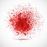 Background with red spots and sprays. Royalty Free Stock Photography