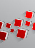 Background with red squares Stock Photos