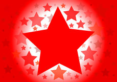 Background with red stars Stock Images