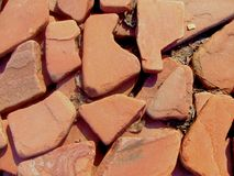 Background of red stones Stock Photography