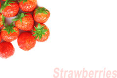 Background of red strawberries Stock Images