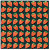 Background of red strawberries. Vector illustration royalty free illustration