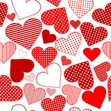 Background with red stylized hearts Royalty Free Stock Photo