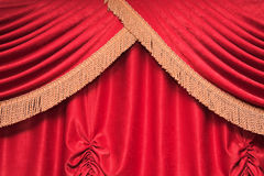 Background of red theater curtain Stock Photos
