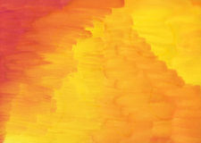Background, red to yellow. Red, orange and yellow watercolor wash background Stock Photos