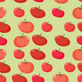 Background of red tomatoes. Vector seamless pattern of vegetable Royalty Free Stock Photography