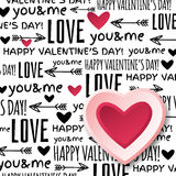 Background with  red valentine heart and wishes te Stock Photos