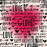 Background with  red valentine heart and wishes te Stock Image