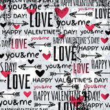 Background with  red valentine heart and wishes te Stock Images