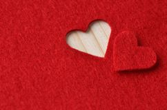 Background in red for Valentine's Day Royalty Free Stock Images