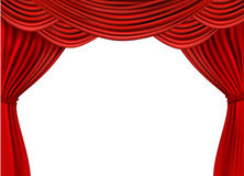Background with red velvet curtain. Royalty Free Stock Image
