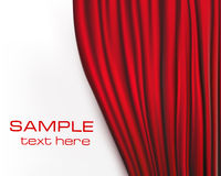 Background with red velvet curtain. Vector illustration Stock Images