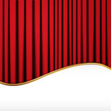 Background with red velvet curtain. And place for text Stock Photography