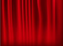 Background with red velvet curtain. Vector Royalty Free Stock Image