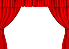 Background with red velvet curtain. Vector. Illustration Royalty Free Stock Photography
