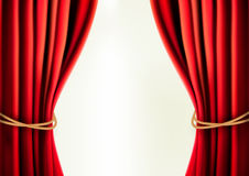Background with red velvet curtain  Vector. Illustration Royalty Free Stock Photos