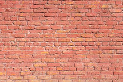 Background red wall of painted brick. Background red old wall of painted brick Royalty Free Stock Photography