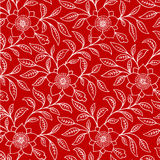 Background Red White Floral Royalty Free Stock Images