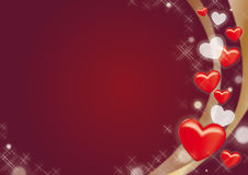 Background of red and white hearts Royalty Free Stock Photo