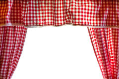 Background with red and white squares curtains over white background Royalty Free Stock Photo