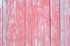 Background from red wooden boards with texture Stock Image