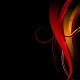 Background_in_red_yellow_black_colors Stock Photography