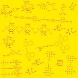 Background red yellow chemical Royalty Free Stock Photos