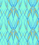 Background refined from abstract plant elements of a blue yellow green. Abstract floral refined elements are collected in a modern pattern Stock Photos