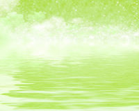 Reflection green In dreams Royalty Free Stock Images