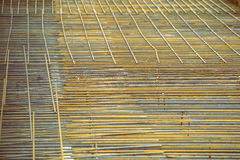 Background of reinforced steel bars 4 Stock Photography