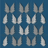 The background with repeat angel wings. Vector illustration. Angel wings as a symbol of love, feelings and sincerity Royalty Free Illustration